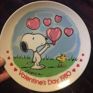 Snoopy Collectors Valentines Day plate
